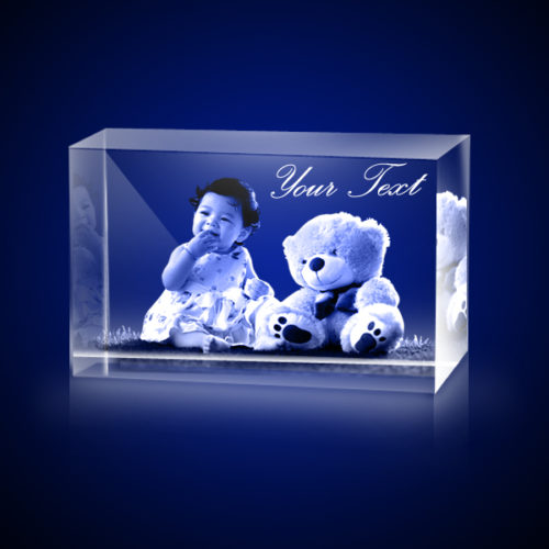 Personalized 3D Crystal Rectangle 5x5x8 1