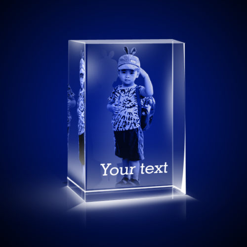 Personalized 3D Crystal Vertical Small 4x4x6 2