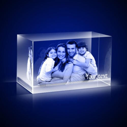 Personalized 3D Crystal Rectangle 6x6x10 3
