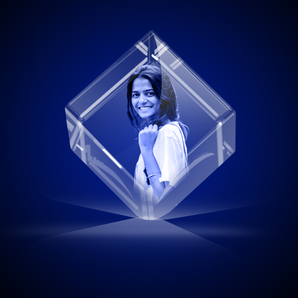 Personalized 3D Crystal Cube 5x5x5 6