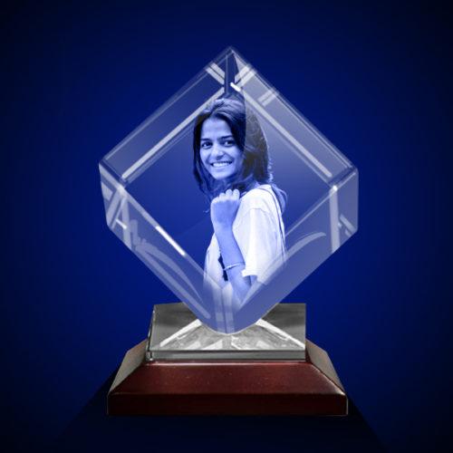 Personalized 3D Crystal Diamond 5x5x5 6