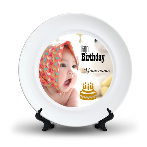 Personalized Ceramic Photo Plate Design 2 2