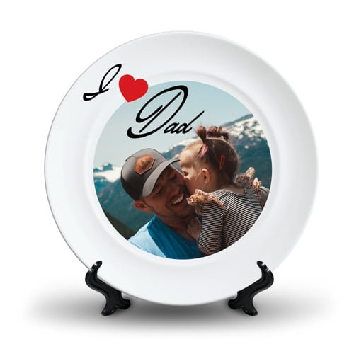 Personalized Ceramic Photo Plate Design 3 3
