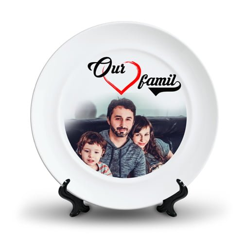Personalized Ceramic Photo Plate Design 4 4