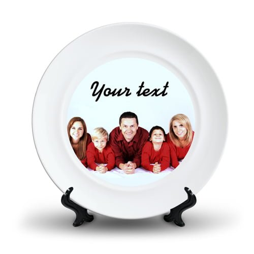 Personalized Ceramic Photo Plate Design 5 5