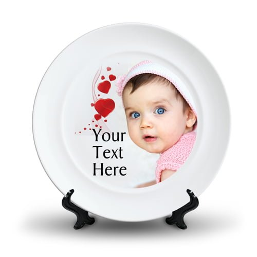 Personalized Ceramic Photo Plate Design 6 6