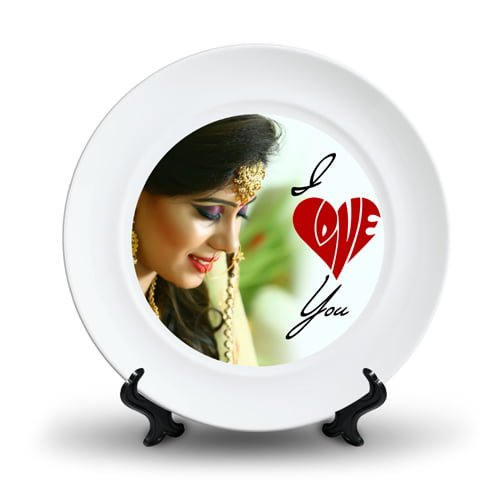 Personalized Ceramic Photo Plate Design 7 7