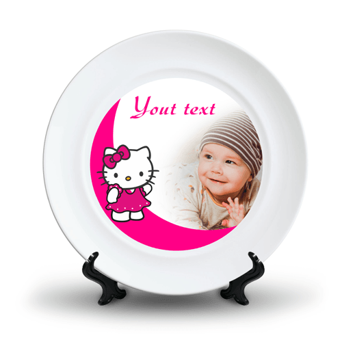 Personalized Ceramic Photo Plate Design 8 8