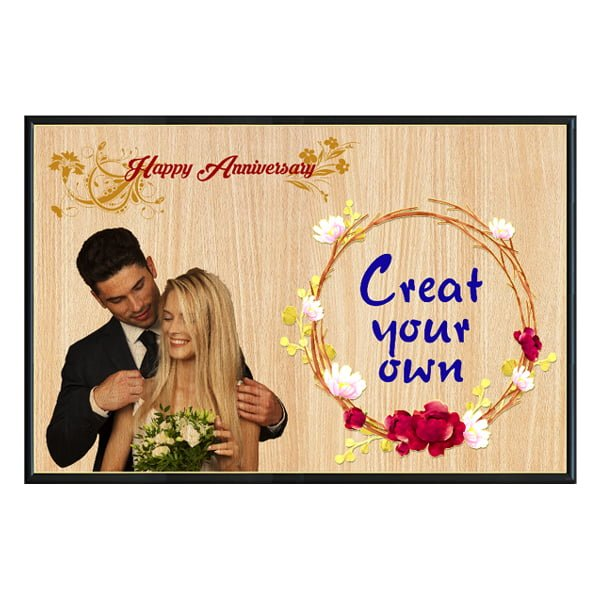 Personalized Photo Print on Wooden Frame Design 2 1