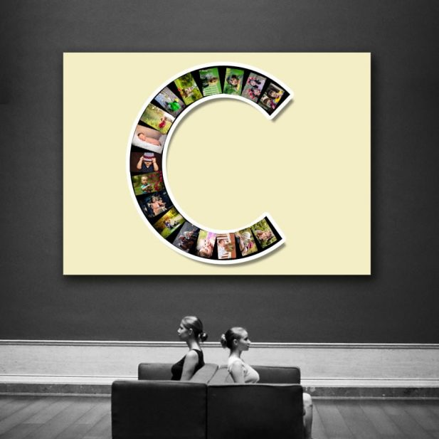 Personalized Photo Collage Canvas Alphabets Design 13 3
