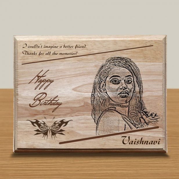 Personalized Wooden Engraving Photo Frame & Plaques Square Design 3 3