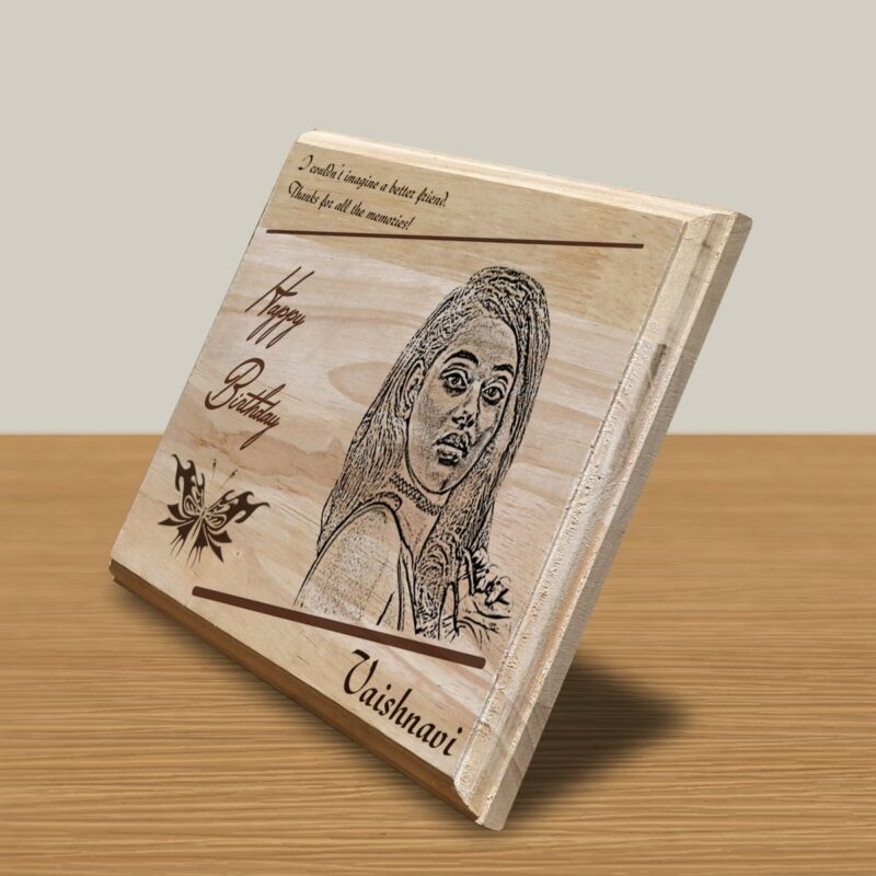 Personalized Wooden Engraving Photo Frame & Plaques Square Design 3 2