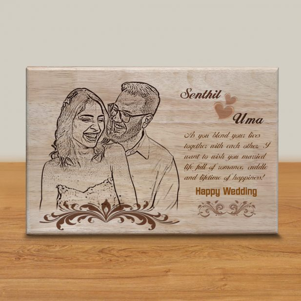 Personalized Wooden Engraving Photo Frame & Plaques Design 4 4
