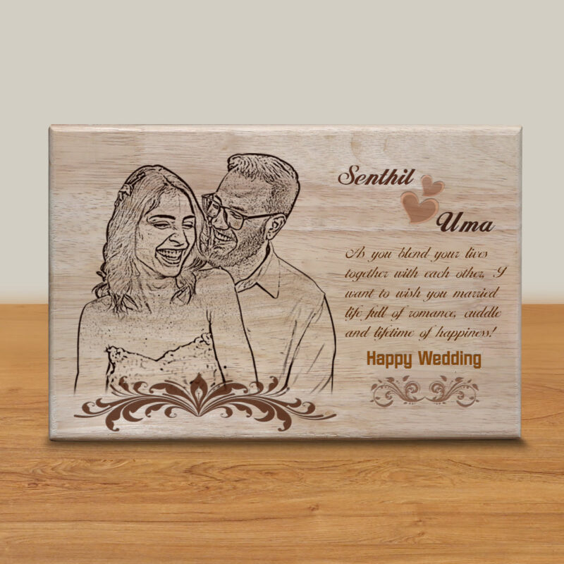 Personalized Wooden Engraving Photo Frame & Plaques Design 4 1