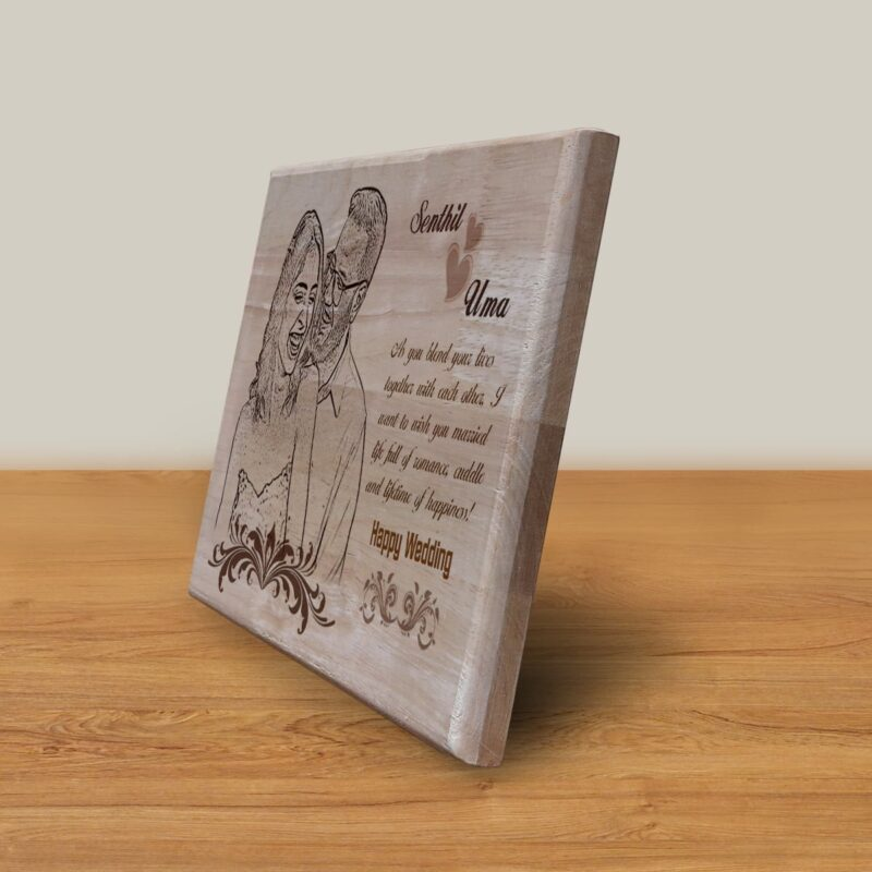 Personalized Wooden Engraving Photo Frame & Plaques Design 4 2