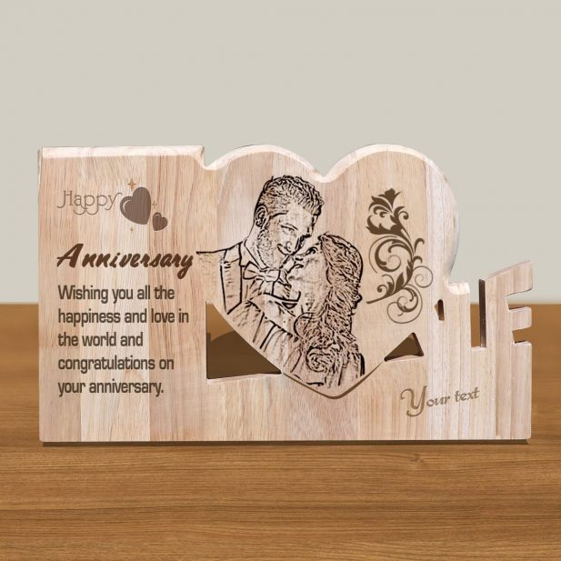 Personalized Wooden Engraving Photo Frame & Plaques Design 5 5