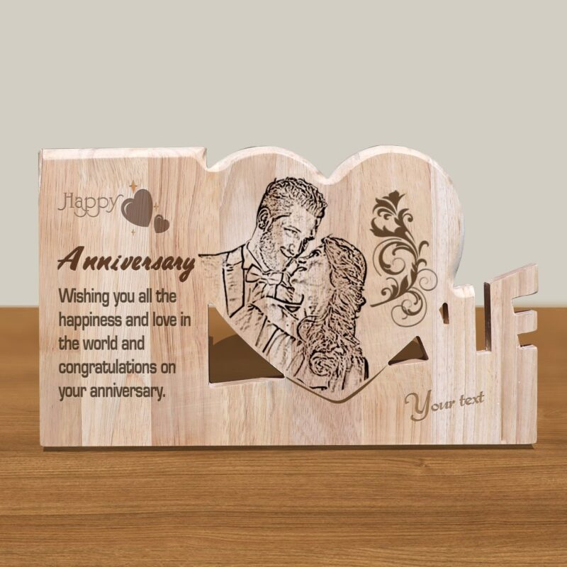 Personalized Wooden Engraving Photo Frame & Plaques Design 5 1