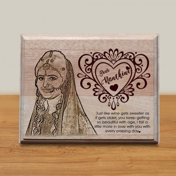 Personalized Wooden Engraving Photo Frame & Plaques Design 6 6
