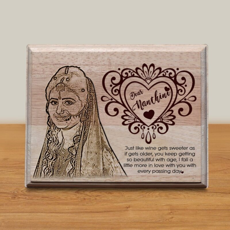 Personalized Wooden Engraving Photo Frame & Plaques Design 6 1