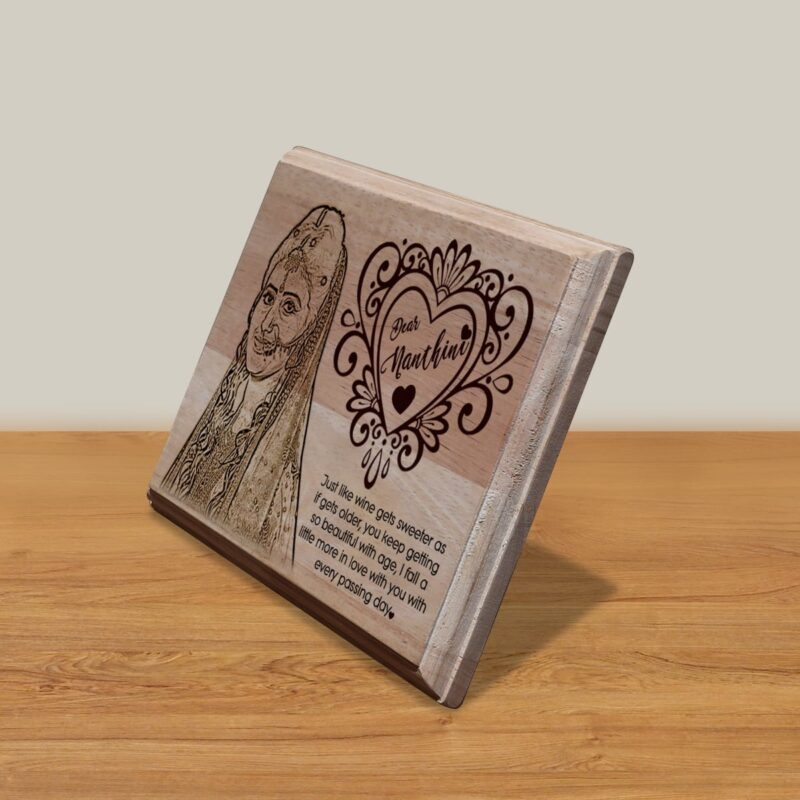 Personalized Wooden Engraving Photo Frame & Plaques Design 6 2