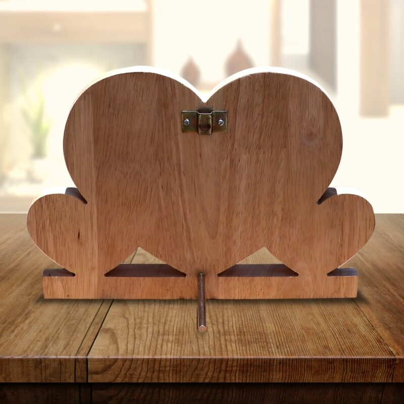 Personalized Wooden Engraving Photo Frame & Plaques Triple Heart Design 7 4