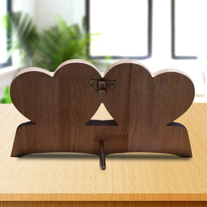 Personalized Wooden Engraving Photo Frame & Plaques Double Heart Design 9 4