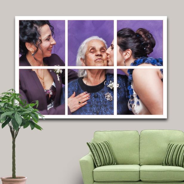 Personalized Photo Mosaic Canvas Design [2x3] 2
