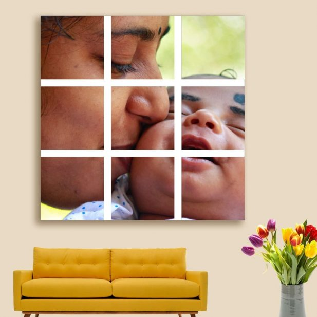 Personalized Photo Mosaic Canvas Design [3x3] 3