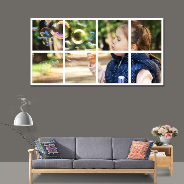 Personalized Photo Mosaic Canvas Design [2x4] 4