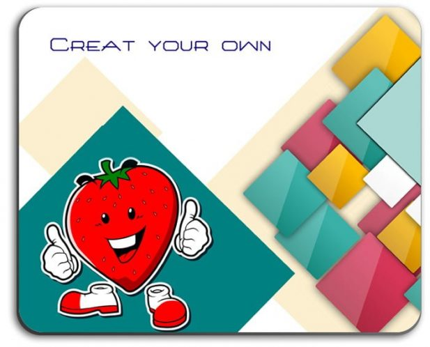 Customize Rectangle pattern design mouse pad 4