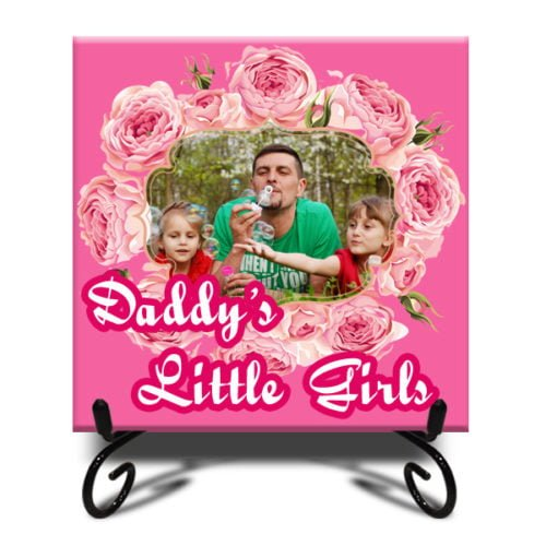 """Personalized Flower Design Photo Tiles 12""""x12"""" 2"""
