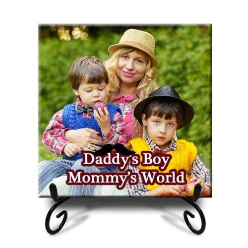"""Personalized Mom's World Photo Tiles 12""""x12"""" 5"""
