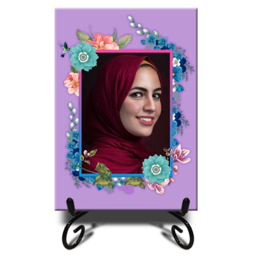 Personalized Floral Design Photo Tiles 6