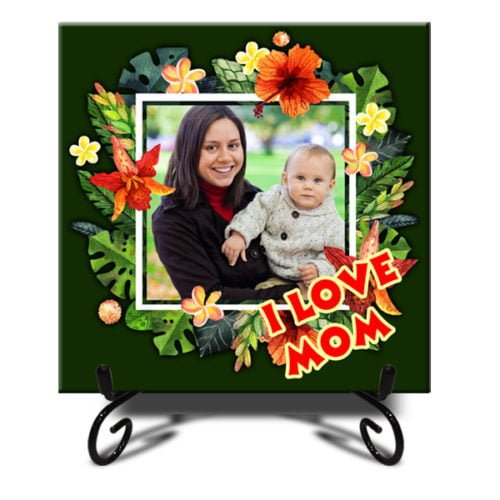 """Personalized Colorful Photo Tiles 12""""x12"""" 8"""
