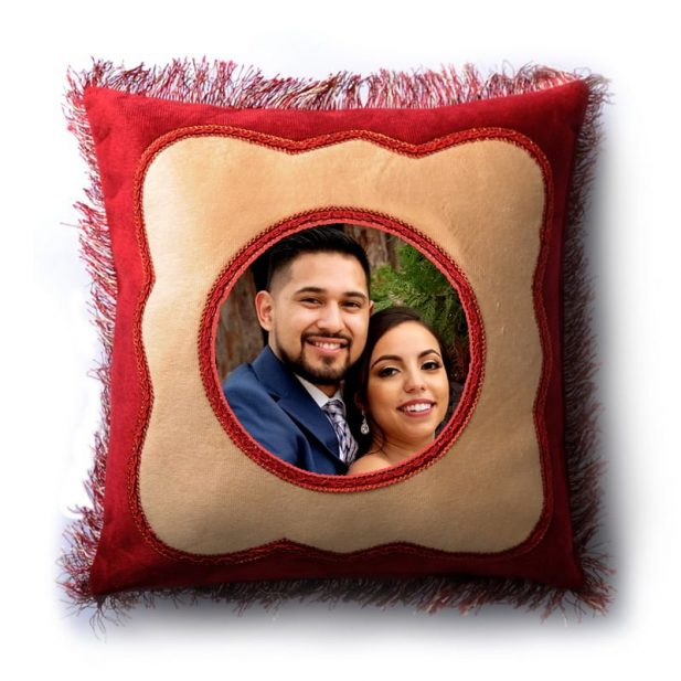 Personalized Italian Designer Photo Pillow 1
