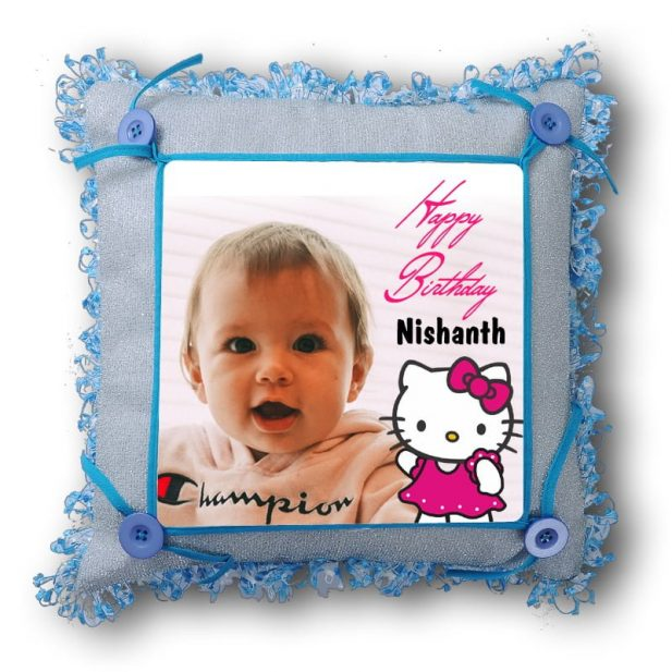 Personalized Square Photo Pillow 2