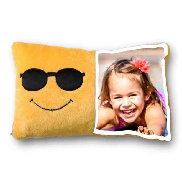 Personalized Smiley Face Photo Pillow 3