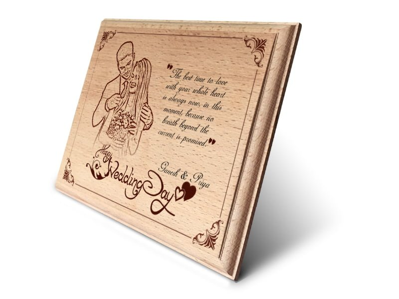 Personalized Wooden Photo Art Frame Design 2 2