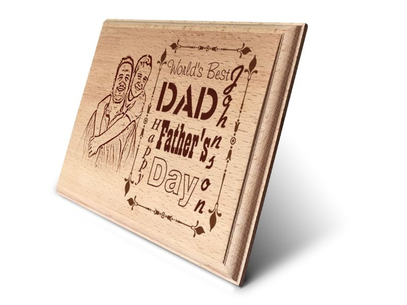 Personalized Wooden Photo Art Frame Design 6 2