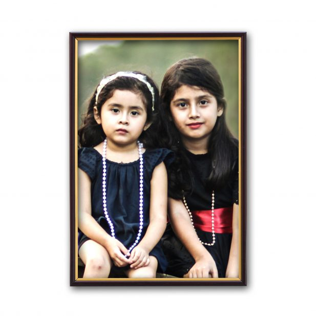 Personalized Golden Border Synthetic Photo Frame Design 13 7