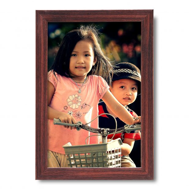 Personalized Brown Synthetic Photo Frame Design 11 8