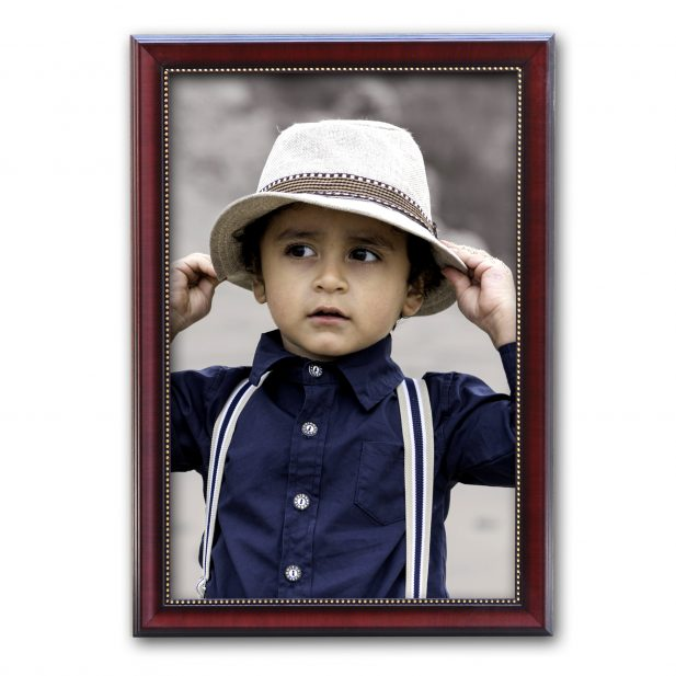 Personalized Brown Synthetic Photo Frame Design 12 8