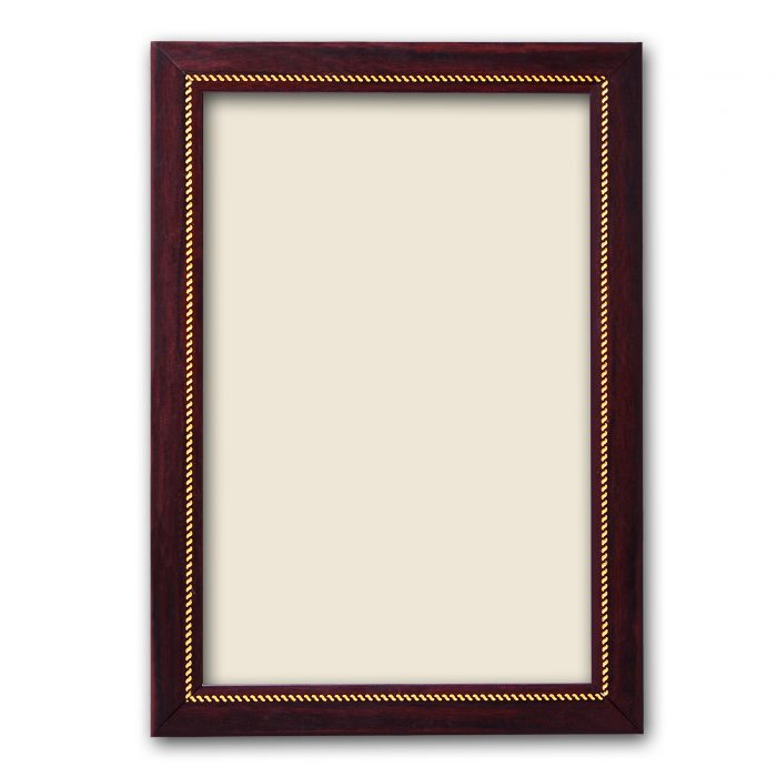 Personalized Brown With Golden Synthetic Photo Frame Design 14 2