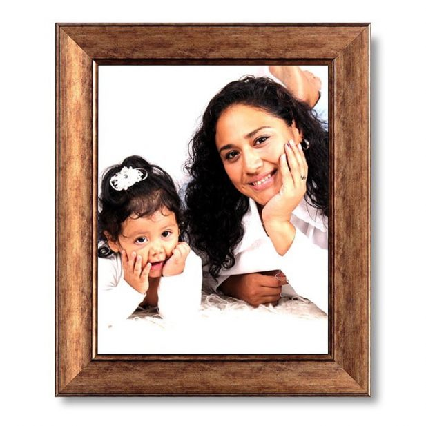 Personalized Light Brown Synthetic Photo Frame Design 2 6