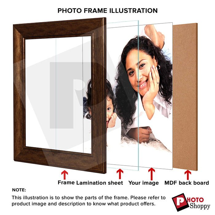 Personalized Light Brown Synthetic Photo Frame Design 2 4