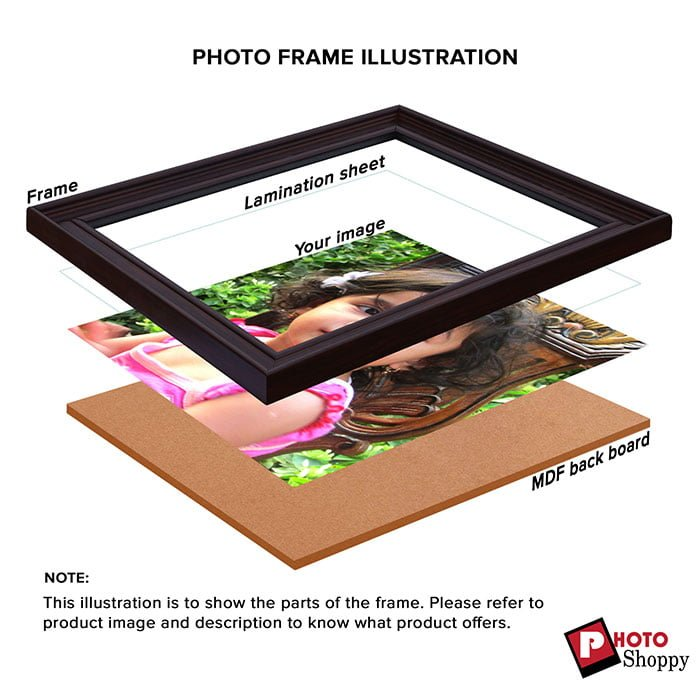 Personalized Brown Synthetic Photo Frame Design 5 4