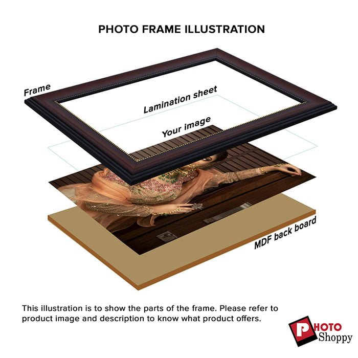 Personalized Candid Brown Synthetic Photo Frame Design 7 4