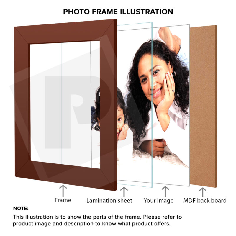 Personalized Black Border Synthetic Photo Frame Design 16 4