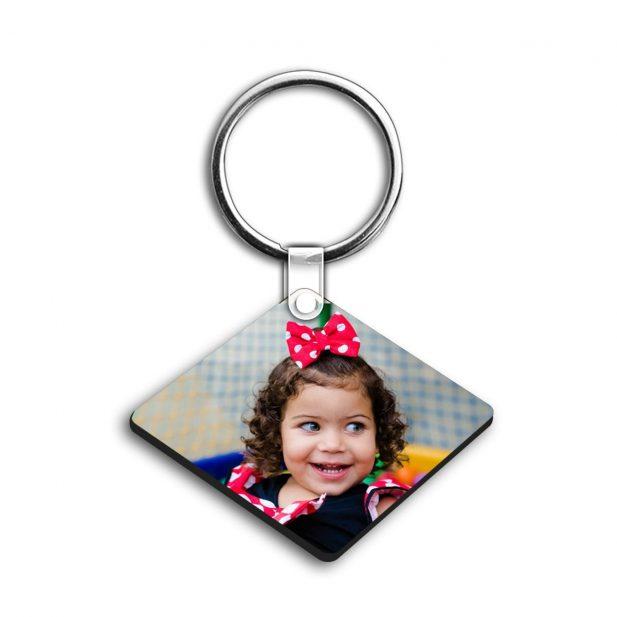 Personalized Photo Keychain Double Side Diamond Design 11 10