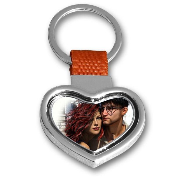 Personalized Photo Keychain Heart Metal Design 3 3